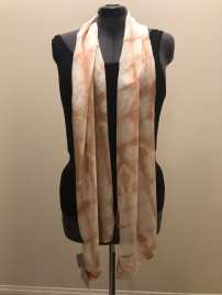 silk scarf: shibori-dyed with avocado pits