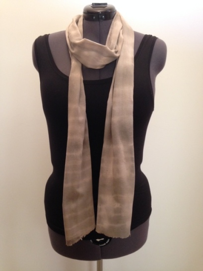 cotton scarf: shibori-dyed with pomegranates
