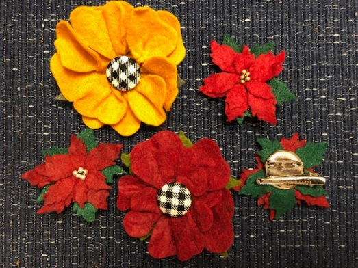 felt flower brooch/clip