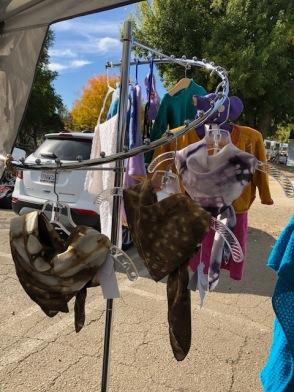 square shibori scarves